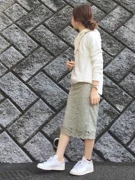 chanpekoさんの「《予約》コードレース スカート◆(IENA|イエナ)」を使ったコーディネート