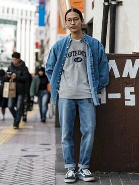 Gapストア 名古屋栄店|GapJapan_Menさんの「90s イージーフィットデニム(GAP)」を使ったコーディネート