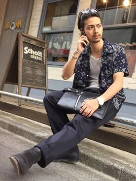 Schott Garage|yamazakiさんの(LARRY SMITH)を使ったコーディネート