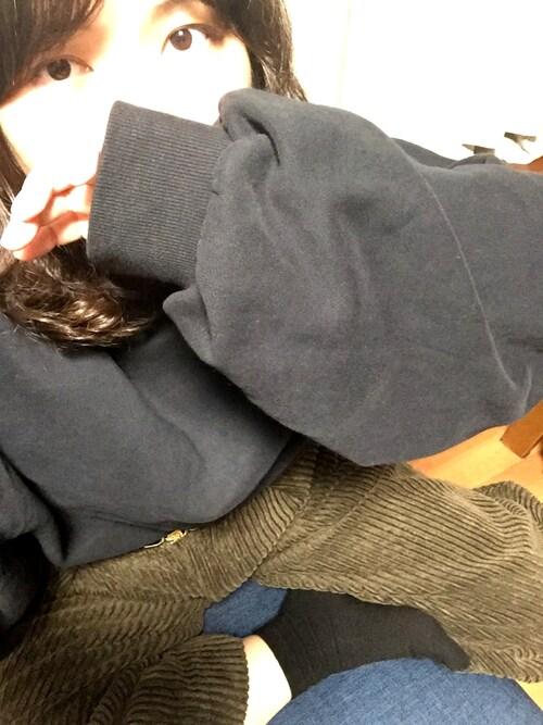 ち-ちゃんさんの「裏毛BIGBIGプルオーバー【niko and ...】(niko and...)」を使ったコーディネート