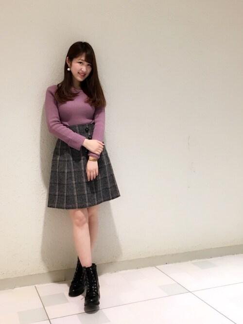 Ayaka Hishizakiさんの「シンプル2wayリブトップス(Supreme.La.La)」を使ったコーディネート