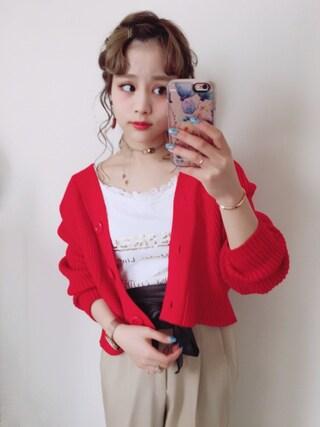 安中亜美 looks