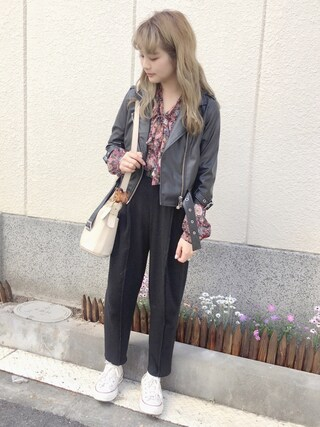 「LOAF ライダース(Aymmy in the batty girls)」 using this 安中亜美 looks