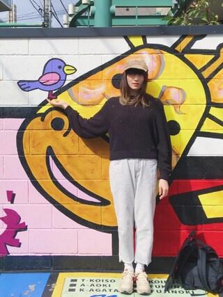 沙田瑞紀 さんの「Garment Dyed Wide Denim Pant(Stussy Women|ステューシーウィメン)」を使ったコーディネート