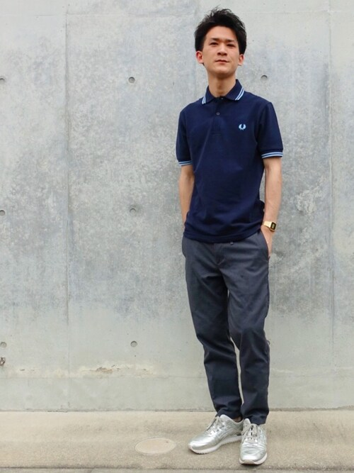 SORINさんの「【FRED PERRY(フレッドペリー)】ポロシャツ(FRED PERRY)」を使ったコーディネート