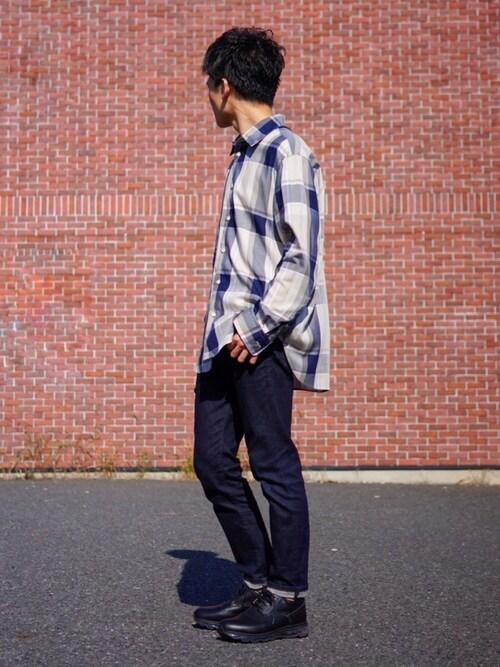 SORINさんの「チェックリラックスレギュラーシャツ(UNITED TOKYO)」を使ったコーディネート