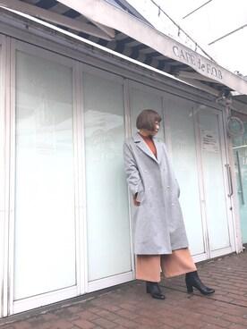FURFURラフォーレ原宿店|Takamiさんの「ポケットファーチェスターコート(FURFUR)」を使ったコーディネート