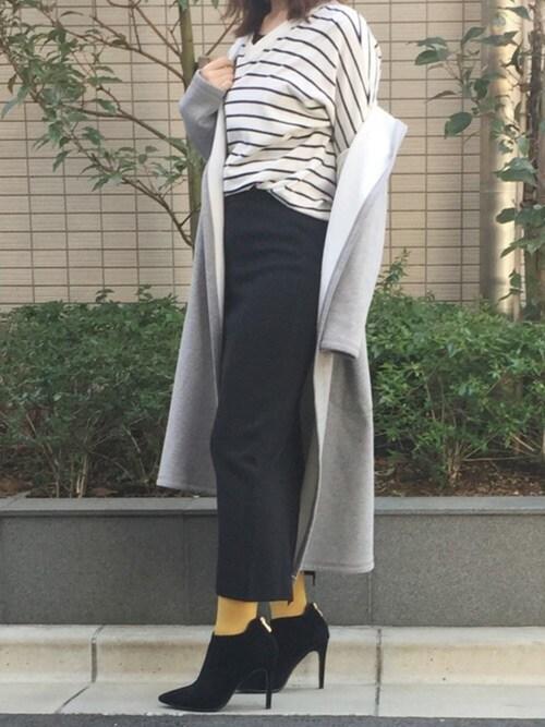 ssさんの「ニットロングスカート(aimoha)」を使ったコーディネート