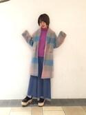 松岡 美樹さんの「フリルレイヤードパンツ(merry jenny|メリージェニー)」を使ったコーディネート