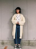 ___tomika___さんの「HAND MADE WOOL KNIT GOWN(SLY|スライ)」を使ったコーディネート