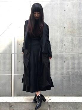 HYSTERICS青山店|fukuchanさんの「CENTER ZIP アンクルブーツ(HYSTERIC GLAMOUR)」を使ったコーディネート