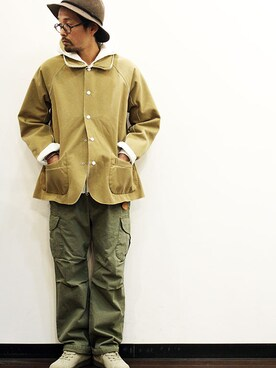 """twothings&thinkさんの「Both Side JKT """" Mouton """"(miraco)」を使ったコーディネート"""
