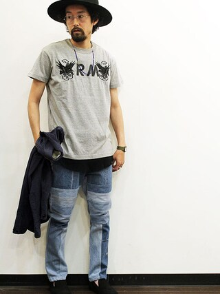 """twothings&thinkさんの「ink (インク) Viet Jean OMIYAGE Tee """" SOUVENIR TEE """"(ink インク)」を使ったコーディネート"""