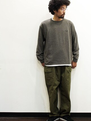 """twothings&thinkさんの「THE FABRIC (ザ・ファブリック) """" TIGER L/S TEE """"(THE FABRIC)」を使ったコーディネート"""