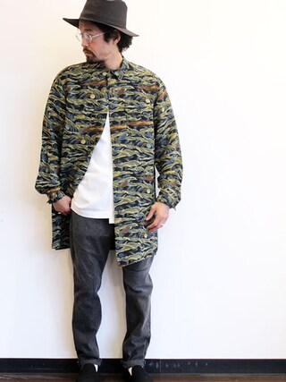 """twothings&thinkさんの「ink (インク) Atomic Aloha Shirts """" Atomic Shirts """"(ink インク)」を使ったコーディネート"""
