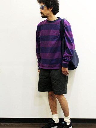 """twothings&thinkさんの「Ordinary fits (オーディナリーフィッツ) """" SANDY SHORTS """"(Ordinary fits オーディナリーフィッツ)」を使ったコーディネート"""