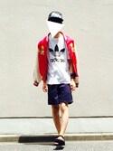 「Topshop for adidas originals Trefoil tee(adidas)」 using this Kazu looks