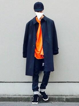 Kazuさんの「Y-3 TRUCK BLACK HAT(Y-3)」を使ったコーディネート