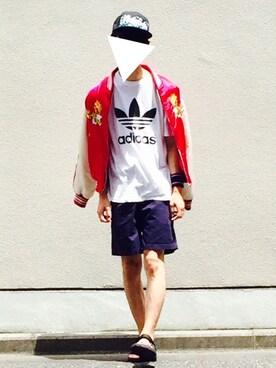 Kazuさんの(adidas|アディダス)を使ったコーディネート