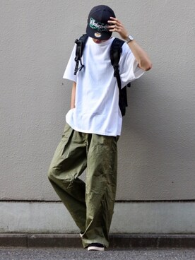 Kazuさんの「GUNG HO/別注ガウチョパンツ(GUNG HO|ガンホー)」を使ったコーディネート