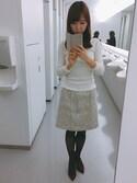 Naoko さんの「★JOC 16FW ソウバリ オフショルダー(Jewel Changes|ジュエルチェンジズ)」を使ったコーディネート
