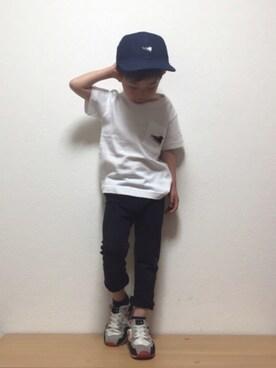 Right-on|sousuke  さんのハット「【CONVERSE】スニーカー刺繍ベースボールキャップ (Right-on|ライトオン)」を使ったコーディネート