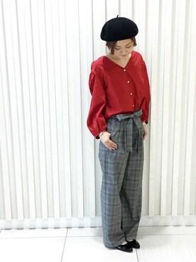 SHIPS 札幌店|古森さんの「パフスリーブブラウス(SHIPS for women)」を使ったコーディネート