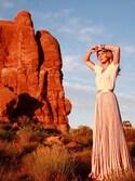 「ASOS Pleated Midi Skirt in Velvet(Asos)」 using this Erin looks