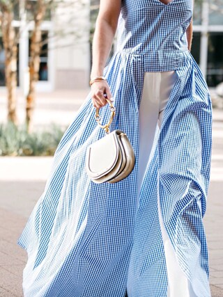 「Chloe Medium Nile Leather Bracelet Saddle Bag - Brown(Chloe)」 using this Erin looks