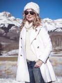 """Erin is wearing GUESS """"Women's Guess Double Breasted Wool Blend Coat"""""""
