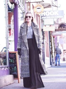 「Women's Lovers + Friends Sabra Longline Plaid Coat(Lovers + Friends)」 using this Erin looks