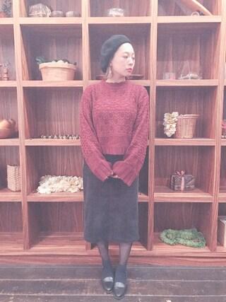 橋本愛奈さんの「WEGO/ウールベレー帽(WEGO|ウィゴー)」を使ったコーディネート
