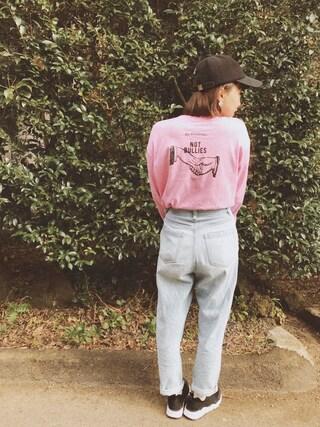 橋本愛奈さんの「IST Wool Strapback Cap(ACC|エーシーシー.)」を使ったコーディネート