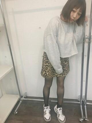 橋本愛奈さんの「フロントレースアップスカート(jouetie ジュエティ)」を使ったコーディネート