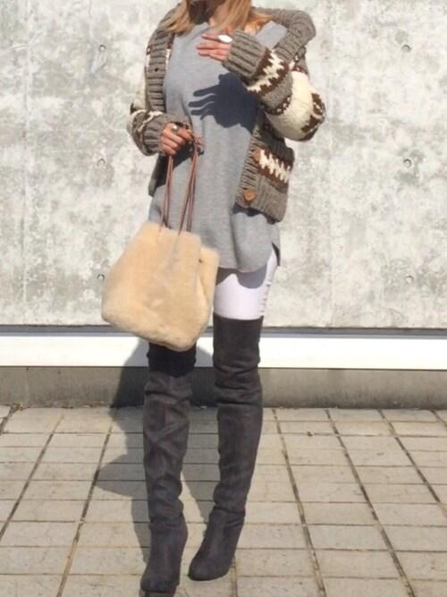 mkmkmkさんの「WEB限定【CONTROL FREAK】リアルムートン巾着BAG(BANNER BARRETT)」を使ったコーディネート