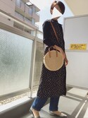 """arietty is wearing AZUL BY MOUSSY """"2WAYリブニット長袖PO"""""""