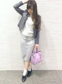 音羽美香さんの「2WAYグリッターオックスフォードシューズ(RANDA|ランダ)」を使ったコーディネート