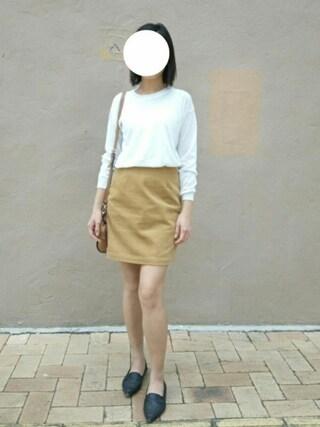 jyさんの「【2017年春新作】ワイドコール台形スカート(MURUA|ムルーア)」を使ったコーディネート