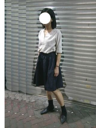 jyさんの「【niko and...】メモリーンザイギャザースカート(niko and...|ニコアンド)」を使ったコーディネート