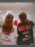星莉奈さんの「LIFEIS BIG Tシャツ(GYDA|ジェイダ)」を使ったコーディネート