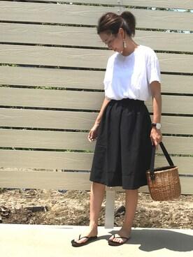 amiさんの「シームレス ビッグTシャツ WOMEN(AURALEE|オーラリー)」を使ったコーディネート