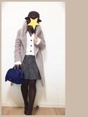 umekoさんの「●JOC ロマンチック ラメツイードスカート / 式典(Jewel Changes|ジュエルチェンジズ)」を使ったコーディネート