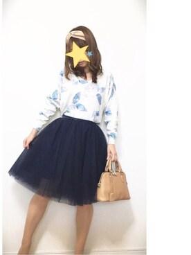 umekoさんの「チュールボリュームスカート(FRAY I.D)」を使ったコーディネート