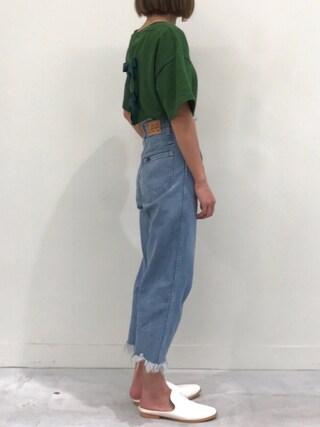 copine|ayaさんの「★再入荷★大人可愛いバッグリボンTシャツ・スウェット(3color)(copine|コピン)」を使ったコーディネート
