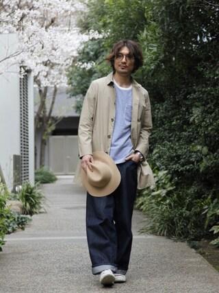 J.FERRY|J.FERRYさんの「ダンプステンカラーコート(MAISON TOKYO|メゾントウキョウ)」を使ったコーディネート