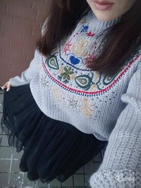 kyanさんの(レーススカート☆)を使ったコーディネート