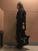 R̤̈ΙиGσJ⃣A⃣M⃣さんの「NEW LOGO TOTE/ニュー ロゴ トート スモール トートバッグ(MARC JACOBS|マークジェイコブス)」を使ったコーディネート