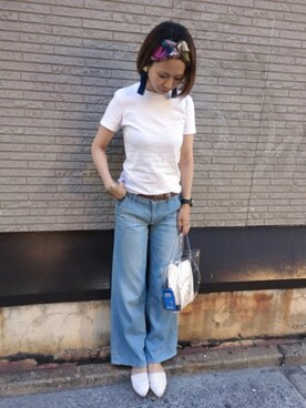 ORientalTRaffic心斎橋OPA店|yumiさんの「春夏新作★スリッパ★7223(ORiental TRaffic)」を使ったコーディネート