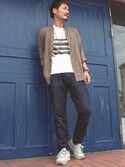 isekat.aさんの「DOORS Cotton Linen Voile Skipper Shirts(URBAN RESEARCH DOORS MENS|アーバンリサーチ)」を使ったコーディネート