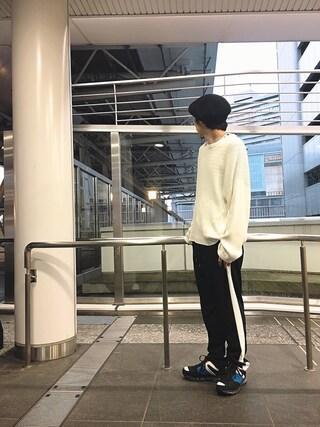 「編み切替ビックニット(Lui's)」 using this Lui's ルクア大阪店|S.FUJITANI looks